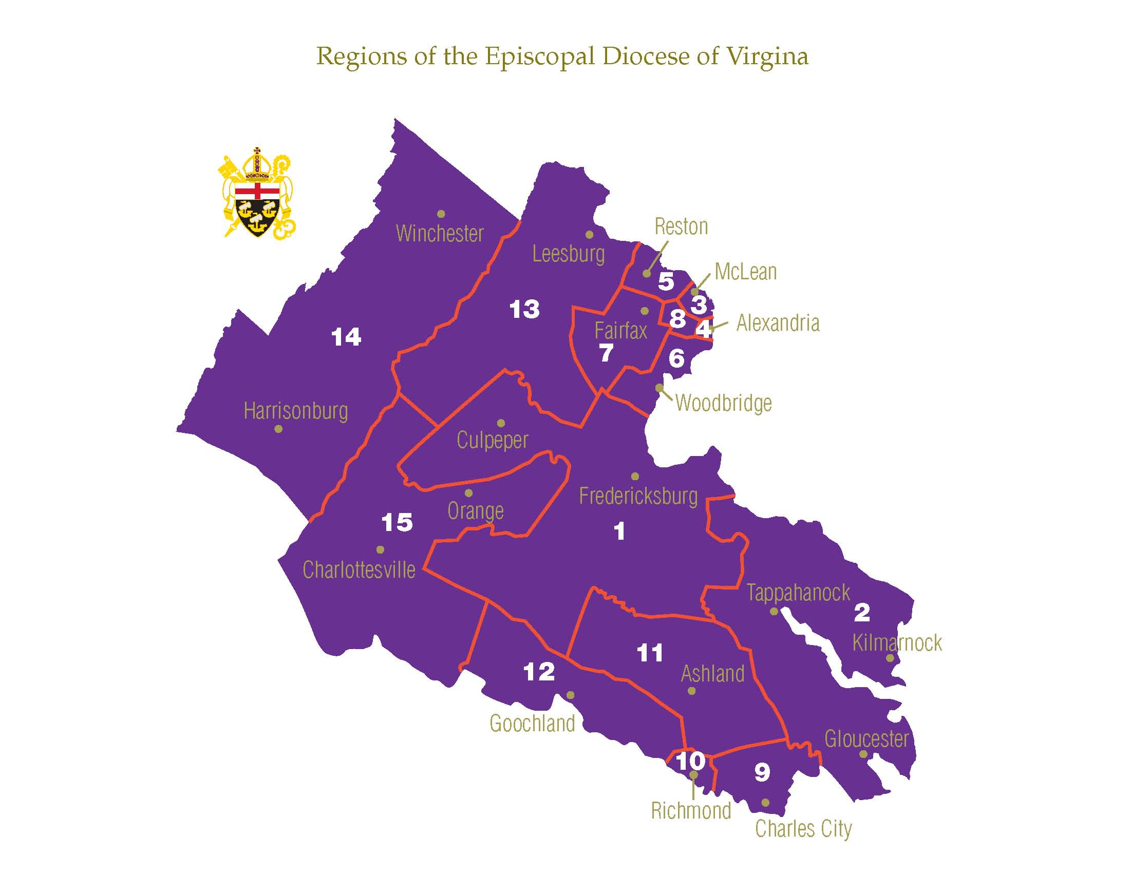 Map us dioceses